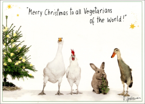 """Merry Christmas to all Vegetarians . ."