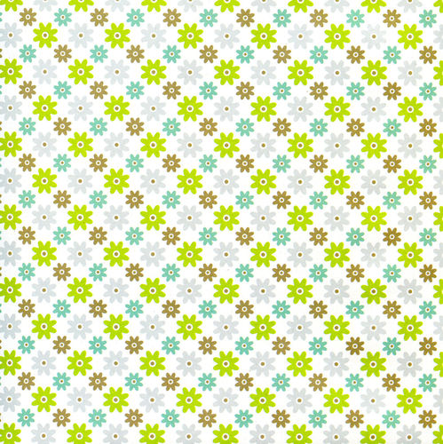 Geschenkpapier, ''Little Pattern, white/green'', 3 Bögen, 50x70cm