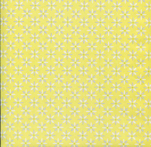 Geschenkpapier, ''Little Pattern, yellow'', 3 Bögen, 50x70cm